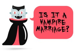Is it a vampire marriage?